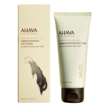 AHAVA LEAVE ON DEADSEA MUD DERMUD INTENSIVE FOOT CREAM 3.4 OZ