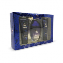 AV GLAMOUR PASSIONATE 3 PCS SET FOR WOMEN: 3 OZ EAU DE PARFUM SPRAY + 3.4 BODY LOTION + 3.4 SHOWER GEL