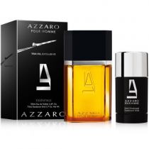 AZZARO 2 PCS SET FOR MEN: 3.4 EAU DE TOILETTE SPRAY + 2.2 DEODORANT STICK