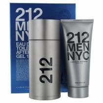 212 2 PCS SET FOR MEN: 3.4 EAU DE TOILETTE SPRAY + 3.4 AFTER SHAVE GEL