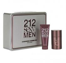 212 SEXY 2 PCS SET FOR MEN: 3.4 EAU DE TOILETTE SPRAY + 3.4 SHOWER GEL (HARD BOX)