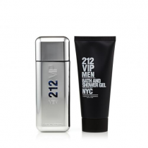 212 VIP 2 PCS SET FOR MEN: 3.4 EAU DE TOILETTE SPRAY + 3.4 BATH AND SHOWER GEL (PICTURE BOX)