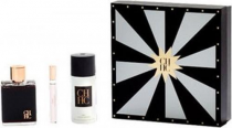 CH BY CAROLINA HERRERA 3 PCS SET FOR MEN: 3.4 EAU DE TOILETTE SPRAY + 0.34 EAU DE TOILETTE SPRAY + 5.1 DEODORANT SPRAY