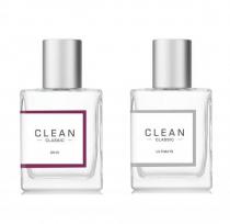 CLEAN CLASSIC 2 PCS SET (FRAGRANCE LAYERING): SKIN 2 OZ EAU DE PARFUM SPRAY + ULTIMATE 2 OZ EAU DE PARFUM SPRAY (PICTURE BOX)