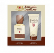 ENGLISH LEATHER 2 PCS SET FOR MEN: 3.4 COL SPL + 2.5 AFTER SHAVE BALM