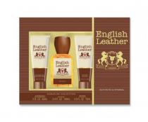 ENGLISH LEATHER 3 PCS SET: 3.4 COLOGNE SPL + 2 OZ AFTER SHAVE BALM + 2.5 BODY WASH