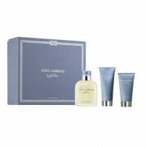 DOLCE & GABBANA LIGHT BLUE 3 PCS SET FOR MEN: 4.2 EDT SP