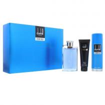 DUNHILL DESIRE BLUE 3 PCS SET FOR MEN: 3.4 EAU DE TOILETTE SPRAY + 3 OZ SHOWER GEL + 6.6 BODY SPRAY