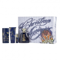 CHRISTIAN AUDIGIER 4 PCS SET FOR MEN: 3.4 EDT SP + 1/4 OZ EDT SP + 3 OZ S/G + 2.75 DEOD STCK