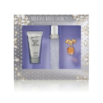 BRILLIANT WHITE DIAMONDS 3 PCS SET: 1.7 EAU DE TOILETTE SPRAY + 1.7 BODY LOTION + 0.12 OZ PARFUM