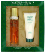 DIAMONDS & EMERALDS 2 PCS SET: 3.4 EAU DE TOILETTE SPRAY + 3.3 BODY LOTION (WINDOW BOX)
