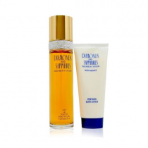 DIAMONDS & SAPPHIRES 2 PCS SET: 3.4 EAU DE TOILETTE SPRAY + 3.4 BODY LOTION (WINDOW BOX)