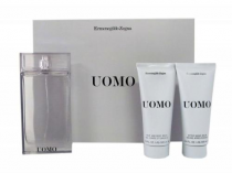 ZEGNA UOMO 3 PCS SET: 3.4 EDT SP + 3.4 AFTER SHAVE BALM + 3.4 HAIR AND BODY WASH