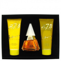 273 4 PCS SET FOR WOMEN: 2.5 EDP SP + 6.7 BODY LOTION + 6.7 SHOWER GEL + DOUBLE SIDED SHELL MIRROR