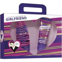 JUSTIN BIEBER GIRLFRIEND 2 PCS SET: 1 OZ EAU DE PARFUM SPRAY + 3.4 TOUCHABLE BODY LOTION (WINDOW BOX)