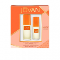 JOVAN MUSK 2 PCS SET FOR WOMEN: 2 OZ COLOGNE SPRAY + 1 OZ COLOGNE SPRAY (WINDOW BOX)