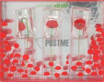 KENZO FLOWER 3 PCS SET FOR WOMEN: 3 X 0.5 OZ EAU DE PARFUM SPRAY