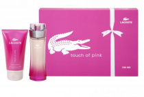 LACOSTE TOUCH OF PINK 2 PCS SET: 3 OZ SP