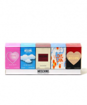 MOSCHINO 5 PCS MINI SET FOR WOMEN: CHEAP AND CHIC CLASSIC 4.9 ML EDT + I LOVE LOVE 4.9 ML EDT + GLAMOUR 5 ML EDP + LIGHT CLOUDS 4.9 ML EDT + PINK BOQUET 5 ML EDT