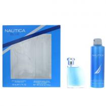 NAUTICA BLUE 2 PCS SET FOR MEN: 1.7 EDT SP + 6 OZ DEODORIZING BODY SP