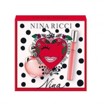 NINA BY NINA RICCI 2 PCS SET: 2.7 EAU DE TOILETTE SPRAY + 10 ML EAU DE TOILETTE ROLL-ON (TRAVEL SET)