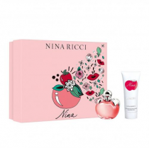 NINA BY NINA RICCI 2 PCS SET: 2.7 EAU DE TOILETTE SPRAY + 3.4 BODY LOTION (HARD BOX)