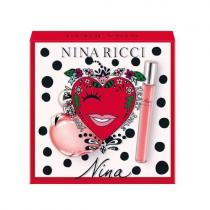 NINA BY NINA RICCI 2 PCS SET: 1.7 EAU DE TOILETTE SPRAY + 0.33 OZ EAU DE TOILETTE ROLLERBALL