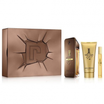 PACO ONE MILLION PRIVE 3 PCS SET: 3.4 EAU DE PARFUM SPRAY + 0.34 OZ EAU DE PARFUM TRAVEL SPRAY + 3.4 SHOWER GEL (METAL BOX)