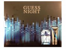 GUESS NIGHT 2 PCS SET FOR MEN: 3.4 EDT SP + 2.5 AFTER SHAVE BALM