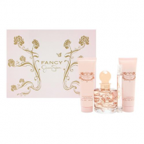 JESSICA SIMPSON FANCY 4 PCS SET: 3.4 EAU DE PARFUM SPRAY + 0.34 OZ EAU DE PARFUM SPRAY + 3 OZ BODY LOTION + 3 OZ BATH & SHOWER GEL (HARD BOX)