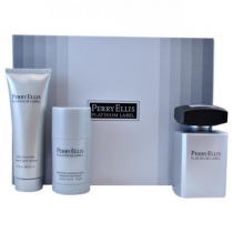 PERRY ELLIST PLATINUM LABEL 3 PCS SET FOR MEN: 3.4 EDT SP