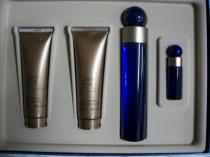 360 BLUE 4 PCS SET FOR WOMEN: 3.4 EDP SP + 6.7 B/L + 6.7 S/G + 1/4 OZ EDP SP