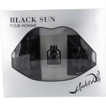 SALVADOR DALI BLACK SUN 3 PCS SET FOR MEN: 3.4 EDT SP + 0.17 OZ EDT + 3.4 OZ AFTER SHAVE