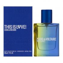 ZADIG & VOLTAIRE THIS IS LOVE 1 OZ EAU DE TOILETTE SPRAY FOR MEN